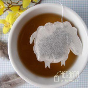 Herbatka w torebce w kształcie baranka