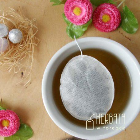 Herbatka w torebce w kształcie jajka