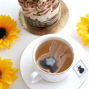 Herbata w torebce w kształcie kota