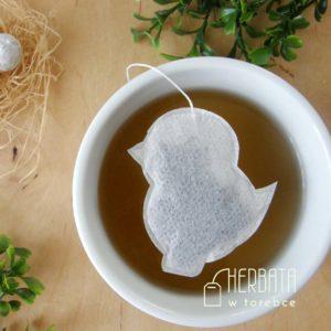 Herbatka w torebce w kształcie kurczaka