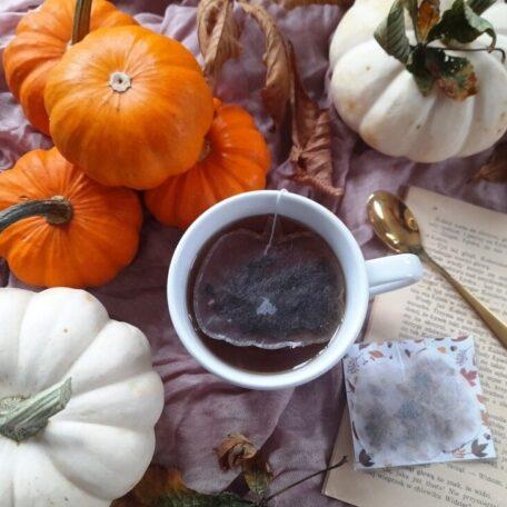 herbata w torebce w kształcie dyni